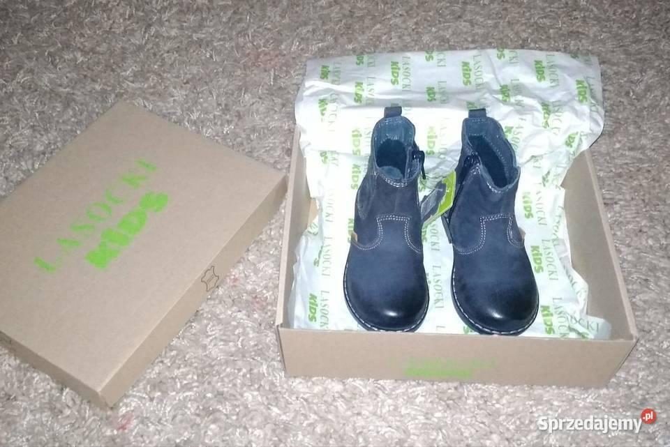 LASOCKI !NOWE! Botki buty skórzane dziecięce r.21