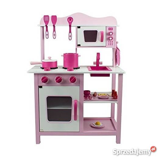 Drewniana Kuchnia Dla Dzieci Classic Różowa