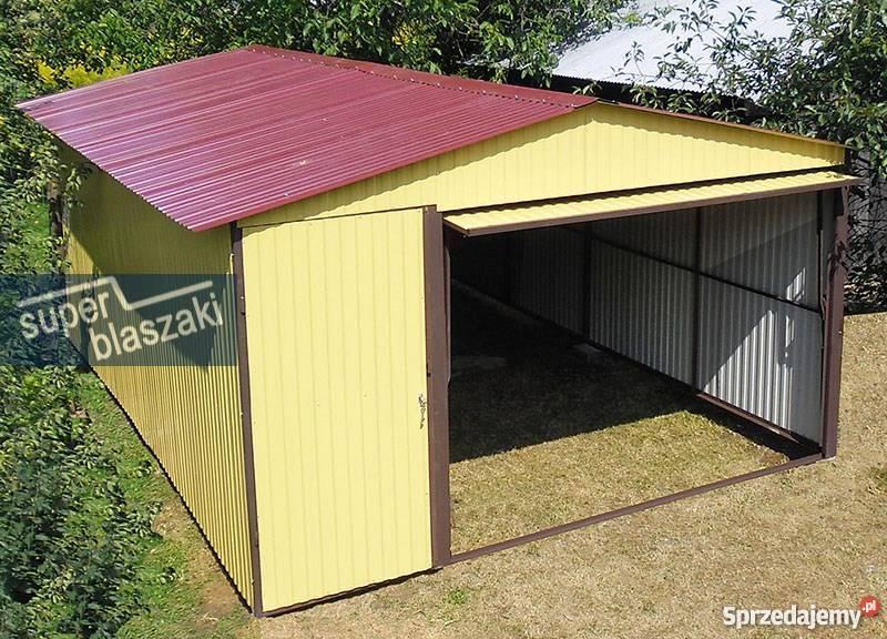 Garaż blaszany 4x6 8017 wzmocnione garaże 24m2 Radom