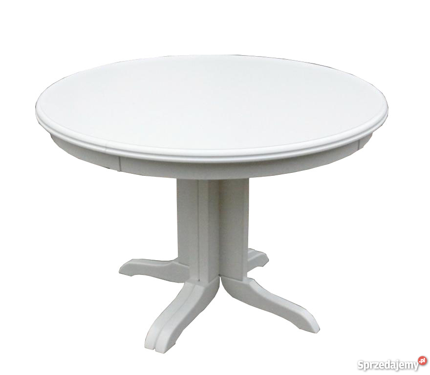 Groovy Stół okrągły 90 biały biały rozkładany producent Złotów JI23