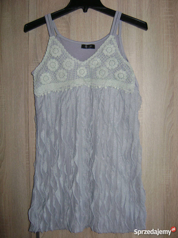 9ace104498 szara sukienka zwiewna M Spódnice i sukienki Jasło sprzedam