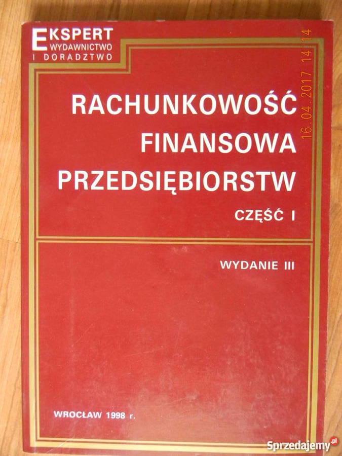 Rachunkowość Finansowa Przedsiębiorstw cz. I i II