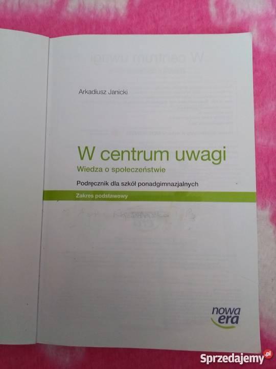 Podręcznik do wiedzy o społeczeństwiezakres Warszawa