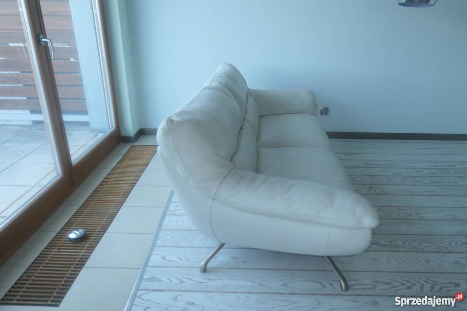Skórzane sofy markowej włoskiej firmy Italsofa biały Dom i Ogród Świnoujście
