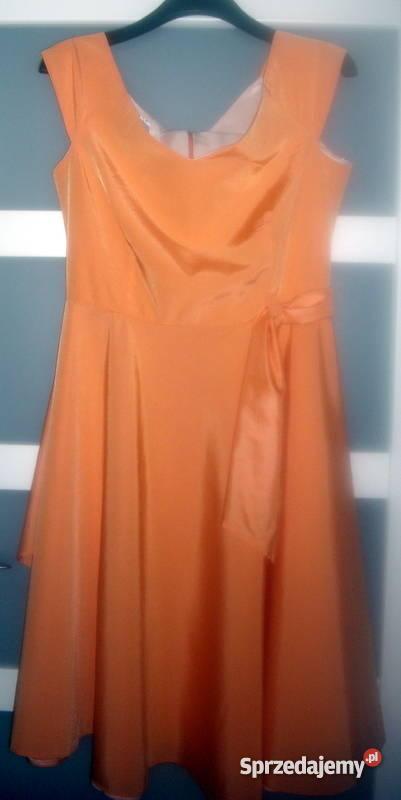 5c357b1a7c pomarańczowa śliczna sukienka pomarańczowy śląskie Bielsko-Biała
