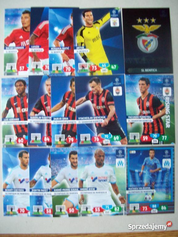 Karty CHAMPIONS LEAGUE ADRENALYN XL PANINI 20131 Kielce sprzedam