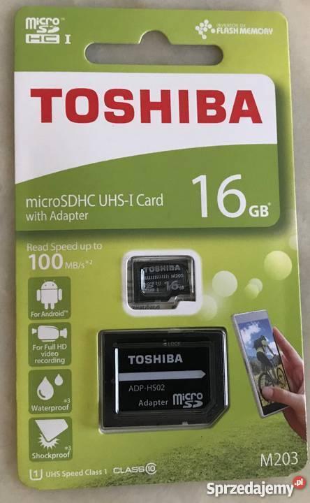 Karty pamieci Toshiba 16GB 55zl Micro SD (TransFlash) Warszawa