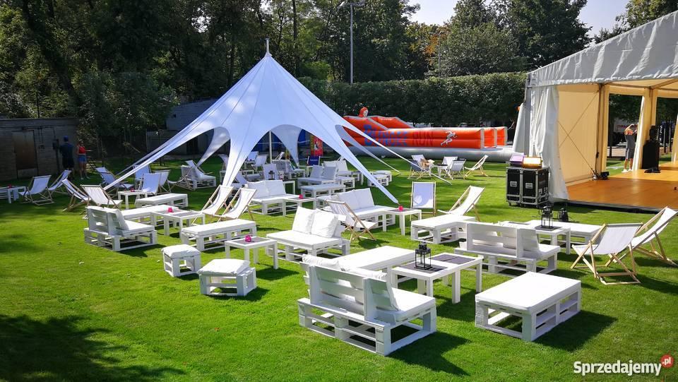 WYNAJEM mebli eventowych eko design namioty STAR Warszawa