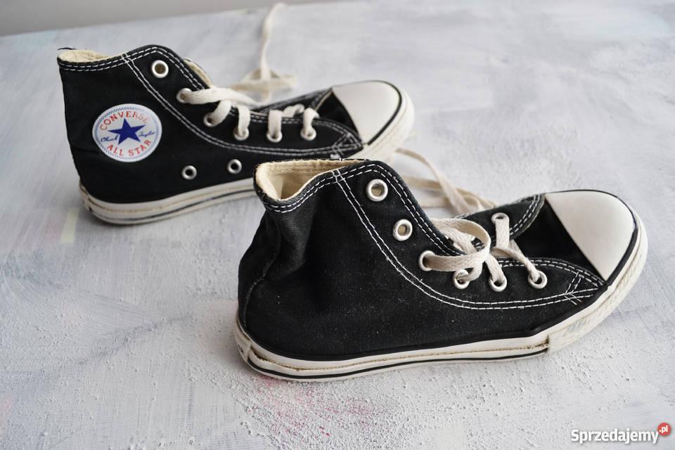 Czarne długie trampki Converse