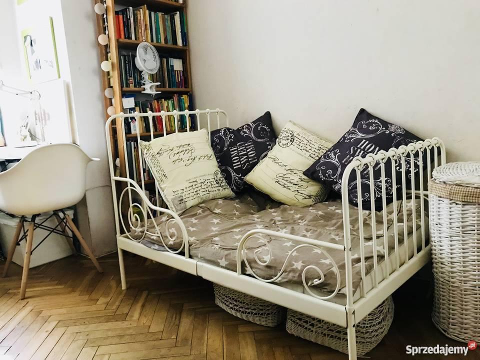 łóżko Minnen Z Ikea Metalowe Białe