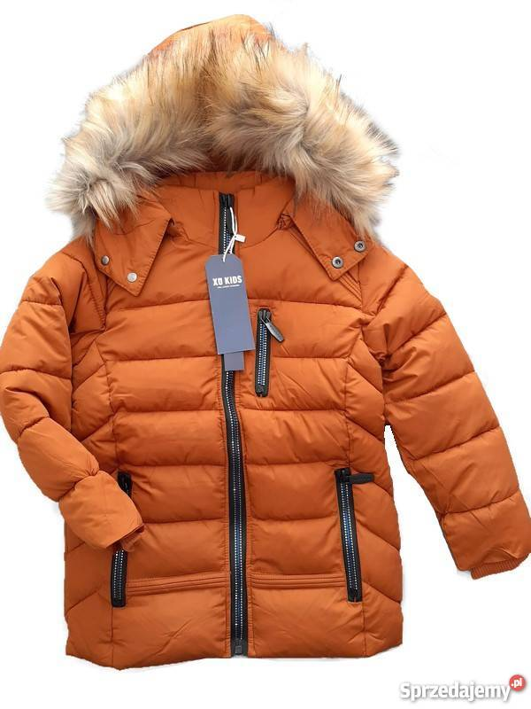 kurtka zimowa chłopięca ocieplana 2 kolory 104 140