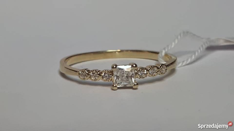 Wszystkie nowe Złoty Pierścionek Zaręczynowy Cyrkonie r.15 PR 585 Gliwice ON61