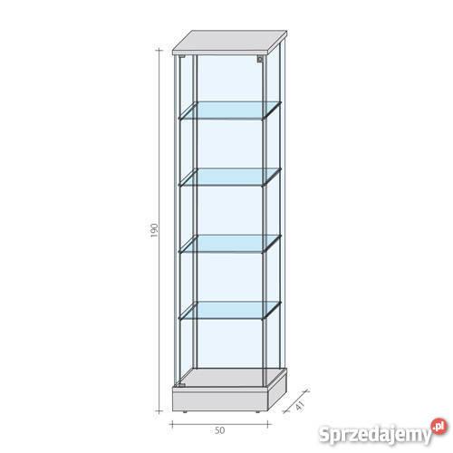 Nowoczesna architektura Gablota szklana POLO - witryna szklana, lada, regał, meble Olsztyn AU32