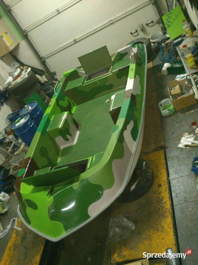 ŁÓDŹ łódka wędkarska rekreacyjna wiosłowo-motorowa