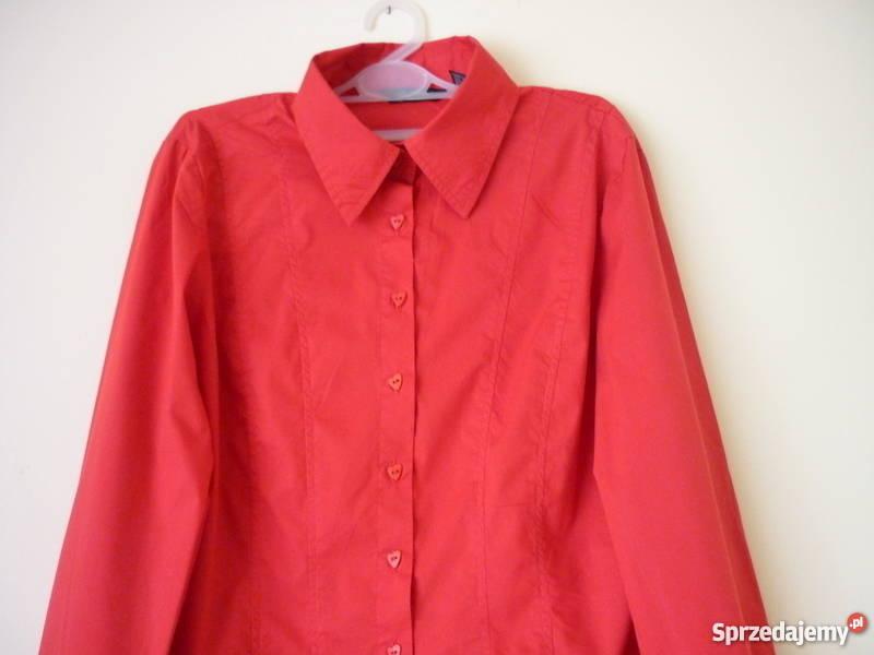 Elegancka czerwona koszula damska L Maków Podhalański  Wmv4j