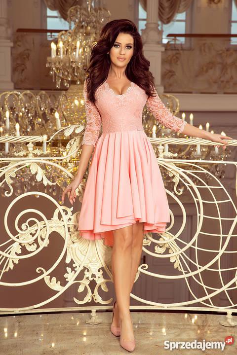 392791ad204955 JOKA NICOLLE sukienka pastelowy róż koronka S M różowy śląskie Mykanów
