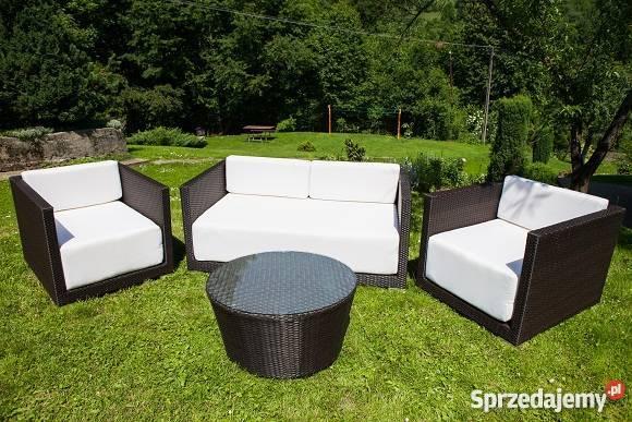 Meble Ogrodowe Tarasowe Z Technorattanu Sofa 2xfotel I ława