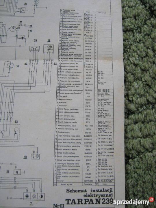Schemat Instalacji Elektrycznej Tarpan 239 Kraków Sprzedajemypl