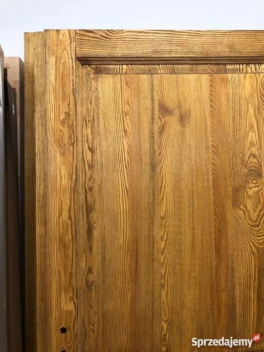 Drzwi postarzane ręki rustykalne ryflowane kujawsko-pomorskie Grzybno