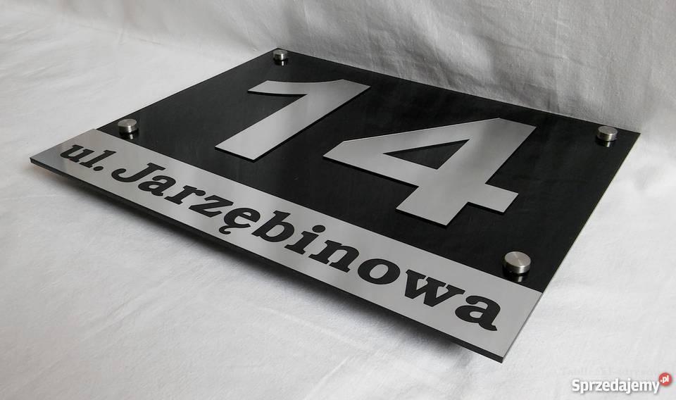 Świeże Grawerowana tabliczka adresowa, numer domu - wysyłka Katowice TK02