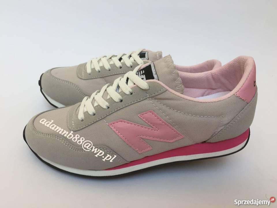 new balance szaro-biało-różowe