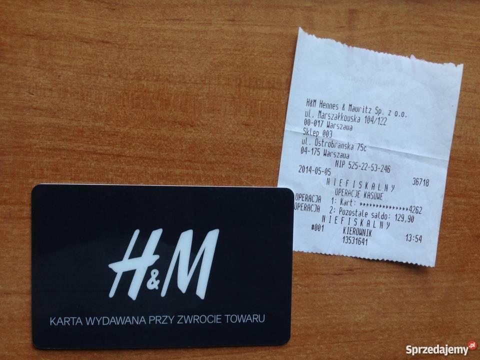 Karta Podarunkowa H M Warszawa Sprzedajemy Pl