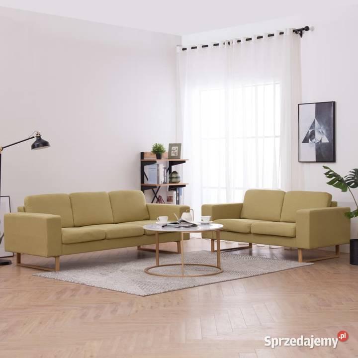 vidaXL Zestaw 2 sof tapicerowanych tkaniną, 276862