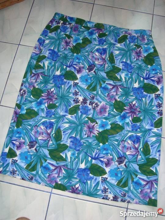 Spódnica długa MARKWALD w kwiaty w odcieniach zieleni