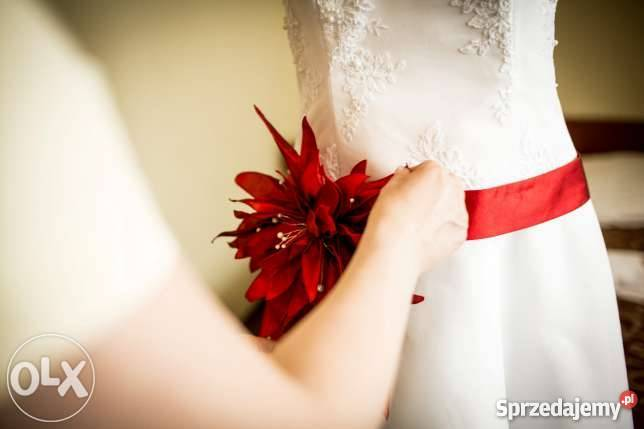 Suknia ślubna Z Przodu Krótka Z Tyłu Długa R40 42 Nowa 1800 Toruń