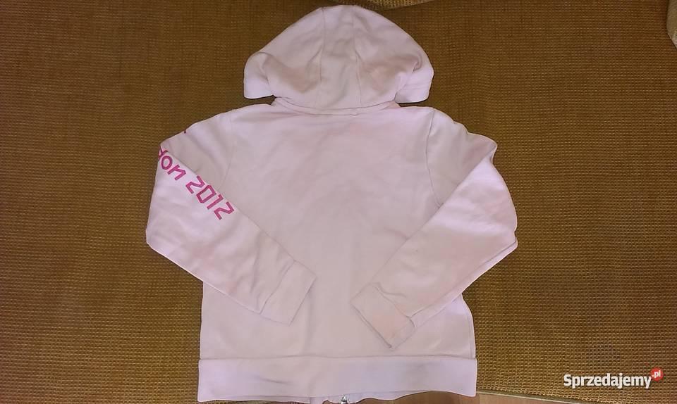 Bluza Róż Pudrowa Adidas 86 cm Różowa w Bluzy i polary