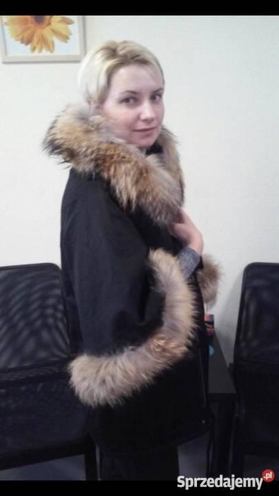 9e067684f4e1e Damska zimowa kurtka obszyta jenotem S/XL. w stylu Rozenek Zielona ...
