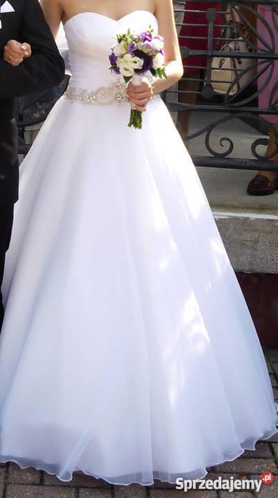 Suknia ślubna Biała Princessa Z Kryształkami łaziska Górne
