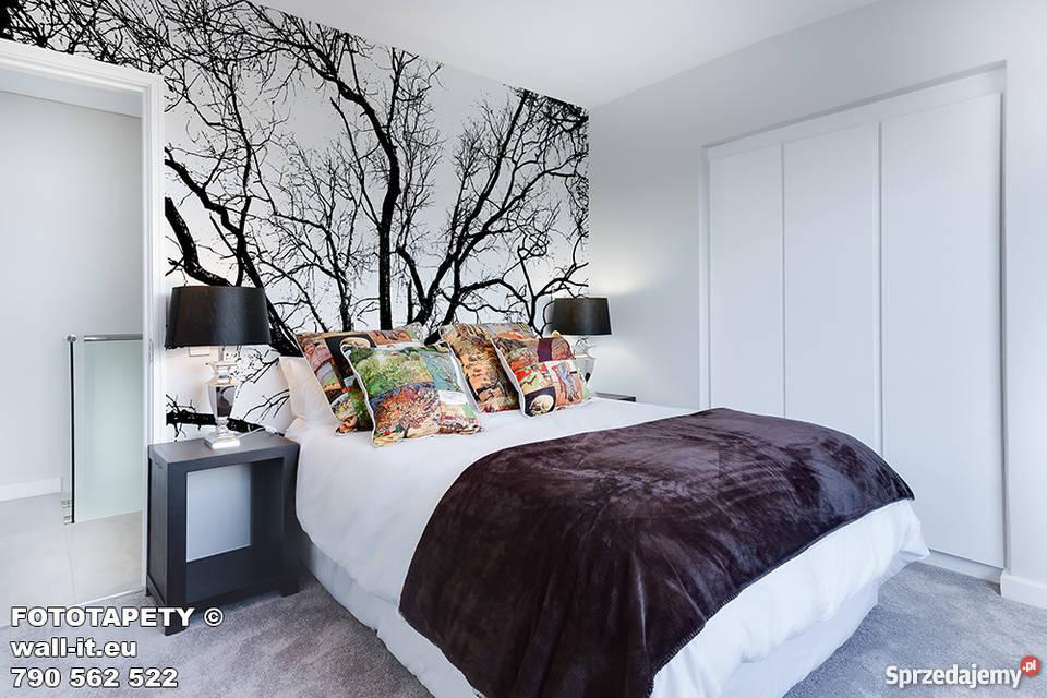 Fototapety Do Sypialni Drzewa Kontury Czarno Biała Gałęzie