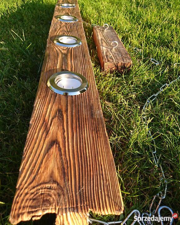 Lampa wisząca Belka drewniana LOFT VINTAGE Oświetlenie Szczecin sprzedam