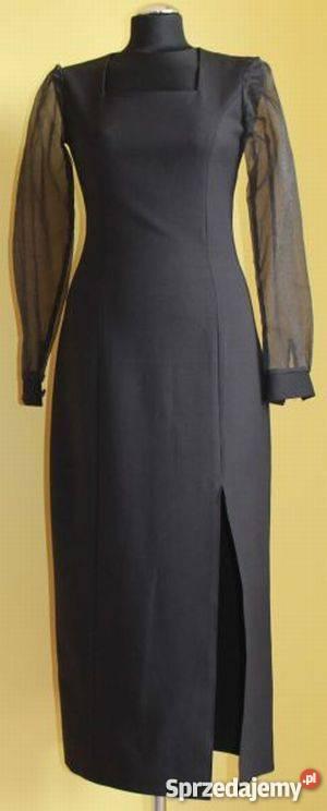 134f3f4da9 Suknia wieczorowa elegancka czarna długa Spódnice i sukienki Koszalin
