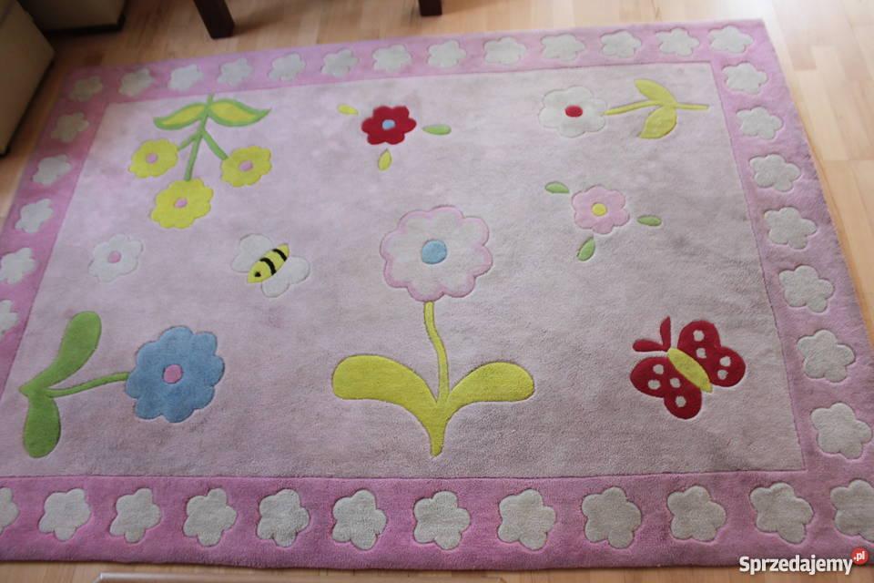 Dywan Fun Różowy W Kwiatki Dla Dziewczynki 160x230