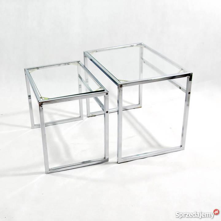Para Modernistycznych Stolików Modułowych Ikea Lata 60