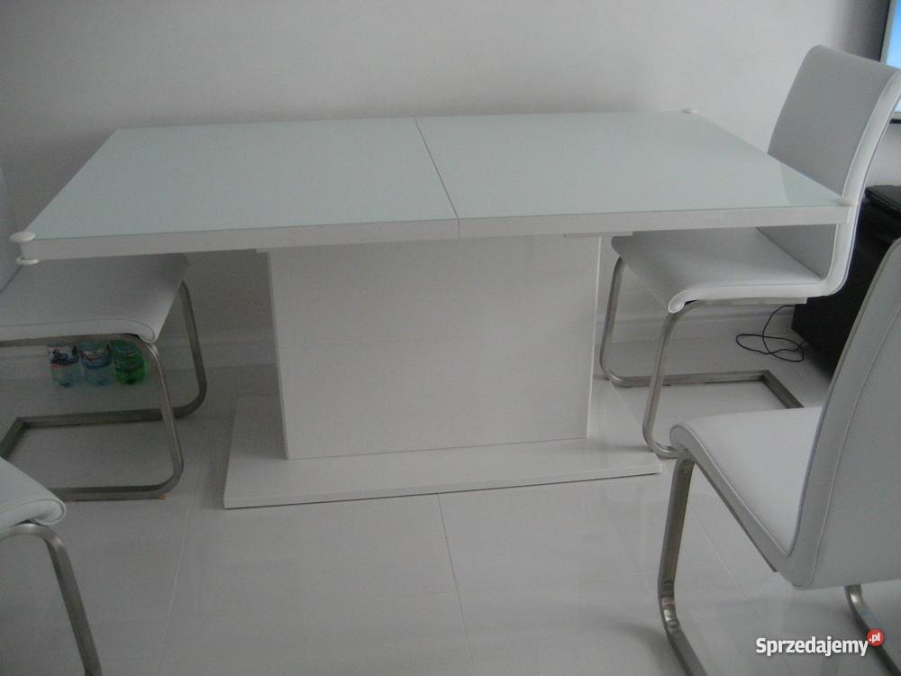 Stół Biały Lakierowany Rozkladany Meble Bydgoskie