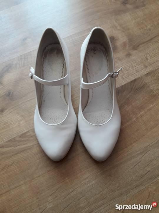 62d575df Buty ślubne białe, wesele rozmiar 36 na obcasie Zadroże - Sprzedajemy.pl