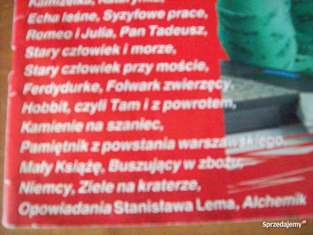 Opracowania lektur z gimnazjum i liceum Lektury Czasopisma warmińsko-mazurskie Kętrzyn sprzedam