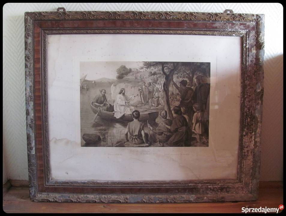 Obraz stary zniszczony 110 x 89 cm reprodukcja