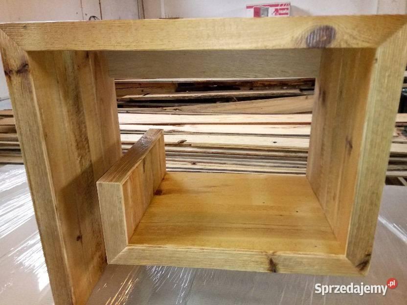 Szafka pod umywalkę ze starego drewna - meble na wymiar