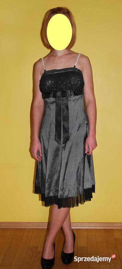 56f045a12e Śliczna sukienka idealna na sylwestra   studniówkę !! Rozm. S - M ...