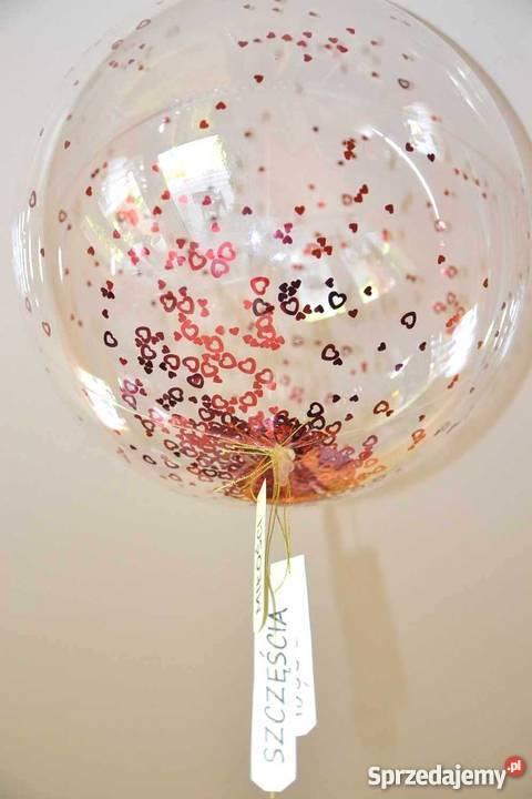 Balon przezroczysty kula bubble z helem wesele Głowno