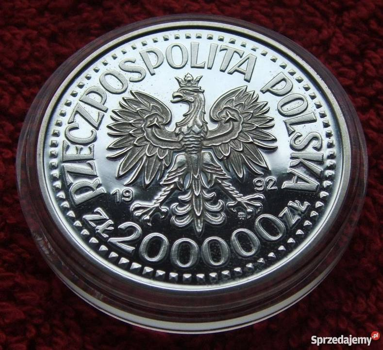 MONETA 200000 STANISŁAW STASZIC 1992 SREBRO Katowice