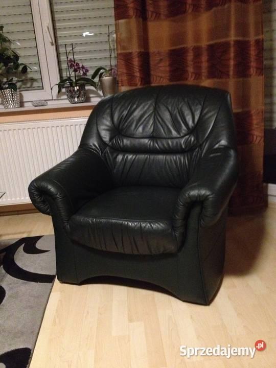 Kanapa Fotel Sofa Skórzana 2+1