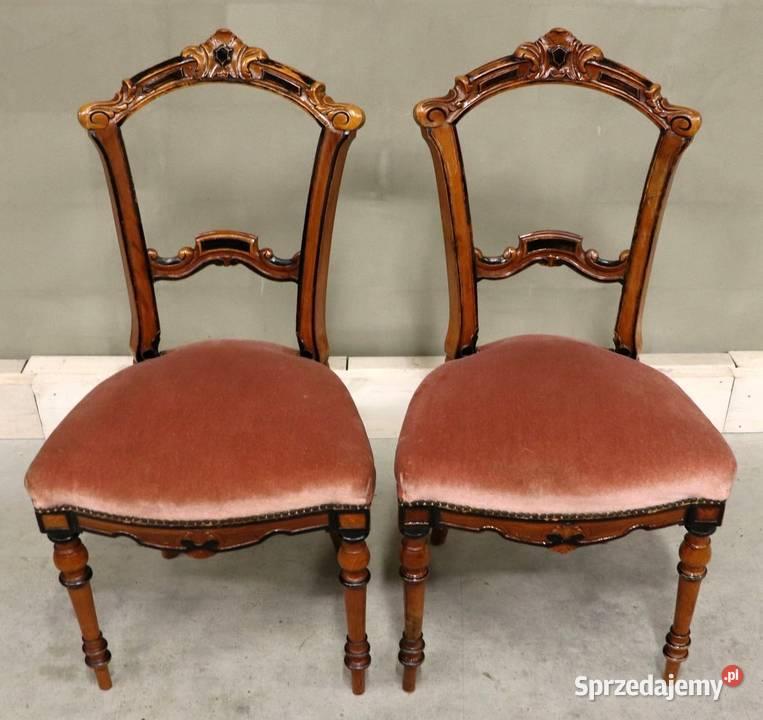 2755 piękne, ozdobne krzesła, kpl 2 szt