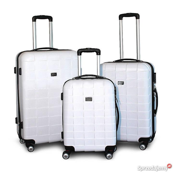 a82b64a946e33 biała walizka - Sprzedajemy.pl