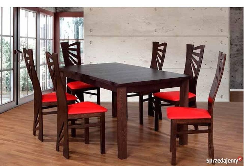 Piękny Zestaw,Stół + 6 Krzeseł,Tanio!