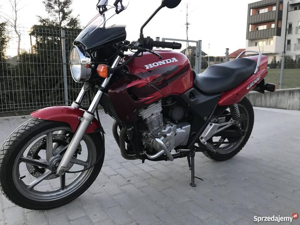 Motocykl Honda CB 500 zarejestrowana naked 1999r. Tczew
